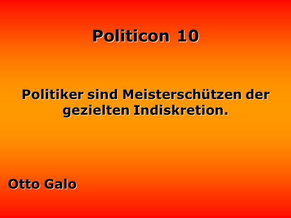 Politicon 10 Politiker sparen, Lothar Schmidt indem sie den Gürtel der Bürger enger schnallen.