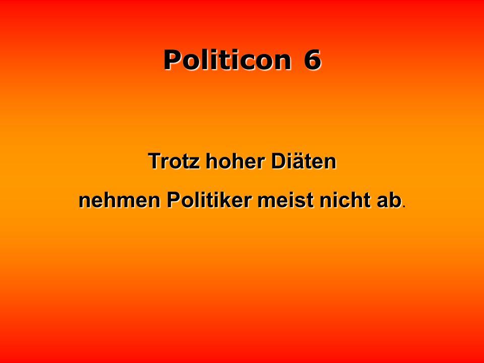 Politicon 6 Politiker aller Länder, schämt euch!