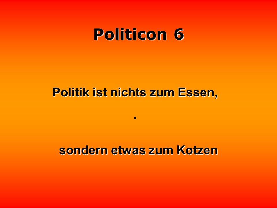 Politicon 6 Trotz hoher Diäten nehmen Politiker meist nicht ab nehmen Politiker meist nicht ab.