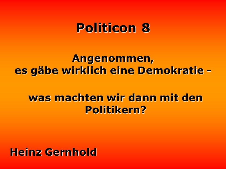 Politicon 8 Mikrophone sind das einzige, das sich Politiker gerne vorhalten lassen.