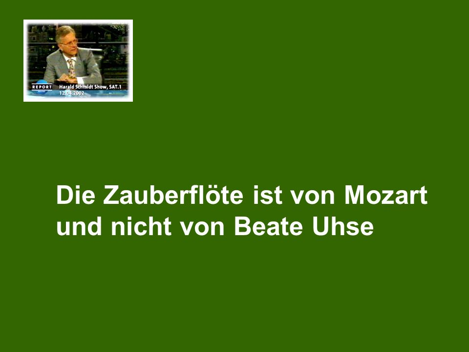 Die Zauberflöte ist von Mozart und nicht von Beate Uhse