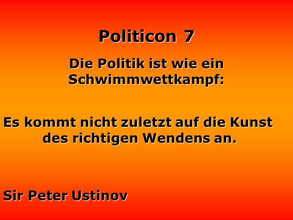 Politicon 7 Ich liebe Politiker auf Wahlplakaten. Sie sind tragbar, geräuschlos und leicht zu entfernen. Loriot