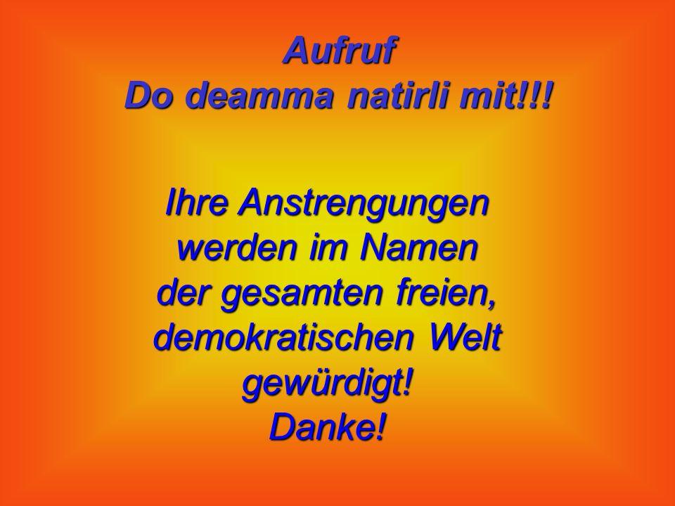 Aufruf Do deamma natirli mit!!.