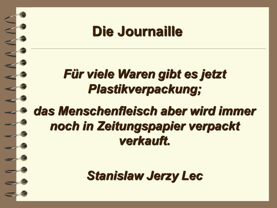 Die Journaille Fernsehen ist unbewältigter Journalismus. Guido Baumann
