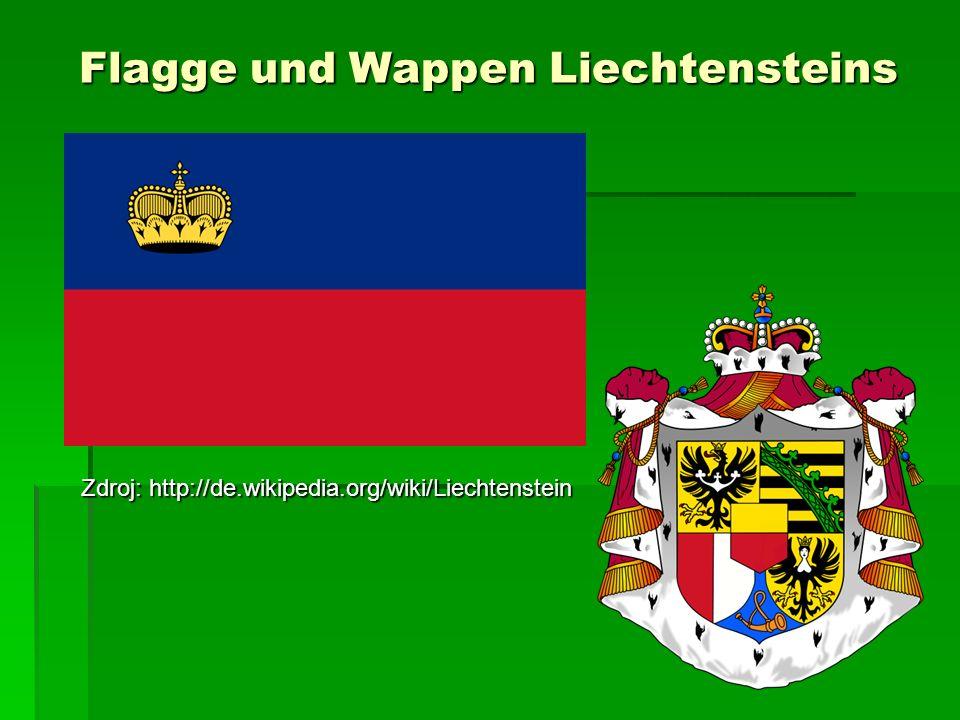 Flagge und Wappen Liechtensteins Zdroj: http://de.wikipedia.org/wiki/Liechtenstein