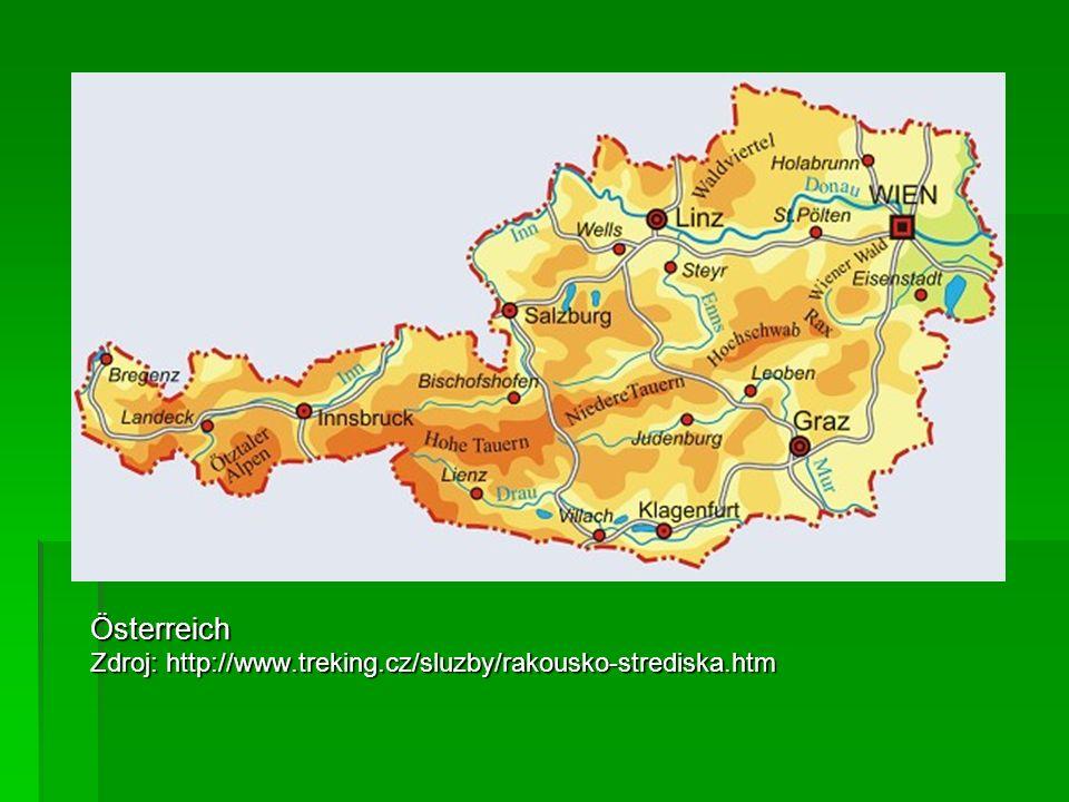 Österreich Zdroj: http://www.treking.cz/sluzby/rakousko-strediska.htm