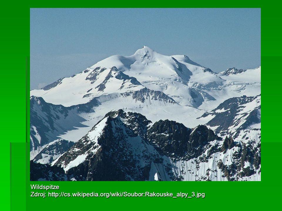 Wildspitze Zdroj: http://cs.wikipedia.org/wiki/Soubor:Rakouske_alpy_3.jpg