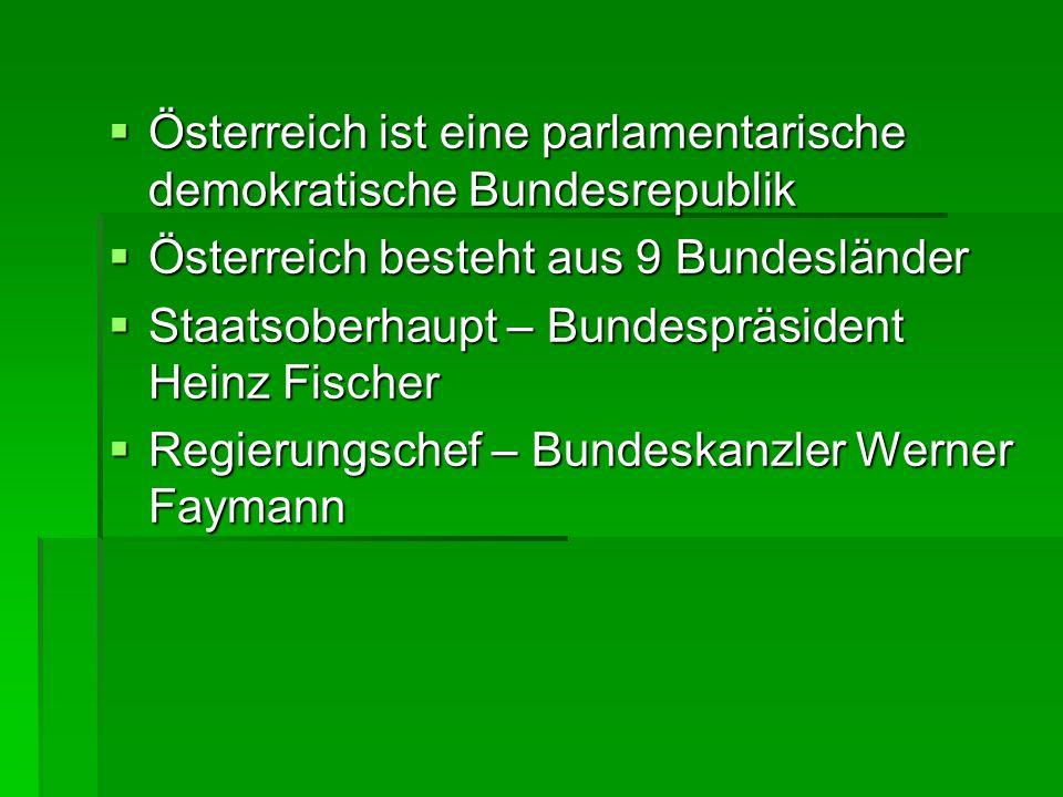 Österreich ist eine parlamentarische demokratische Bundesrepublik Österreich ist eine parlamentarische demokratische Bundesrepublik Österreich besteht