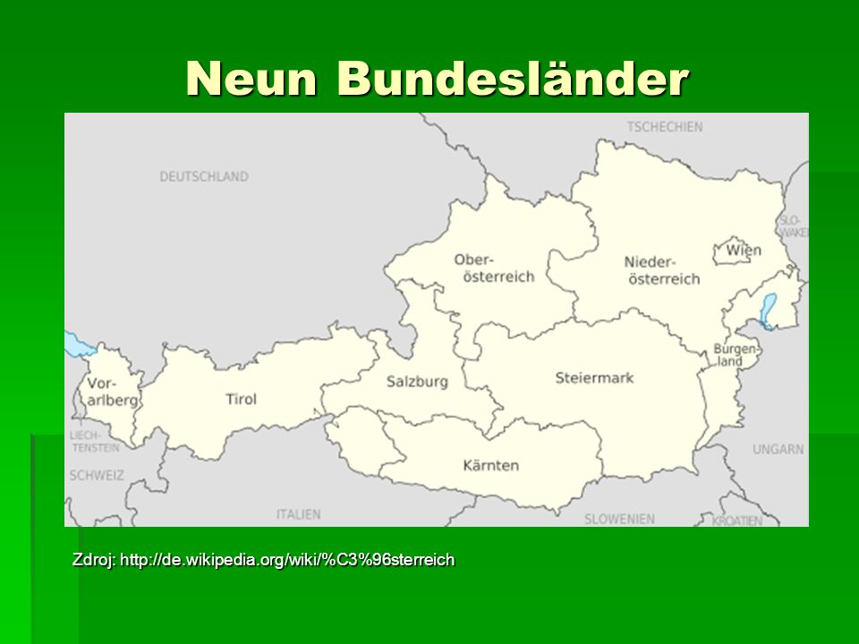 Österreichische Bundesländer und ihre Hauptstädte Burgenland – Eisenstadt Burgenland – Eisenstadt Kärnten – Klagenfurt Kärnten – Klagenfurt Niederösterreich – St.