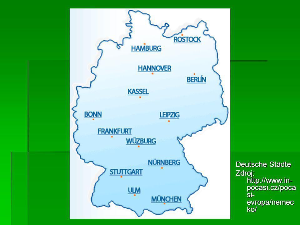 Deutsche Städte Zdroj: http://www.in- pocasi.cz/poca si- evropa/nemec ko/