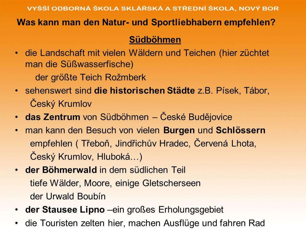 Wiederholung zum Thema Antworten Sie auf die Fragen: 1.Befinden sich in Nordböhmen Sandsteinfelsen.