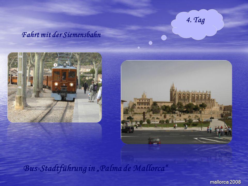 mallorca 2008 4. Tag Fahrt mit der Siemensbahn Bus-Stadtführung in Palma de Mallorca