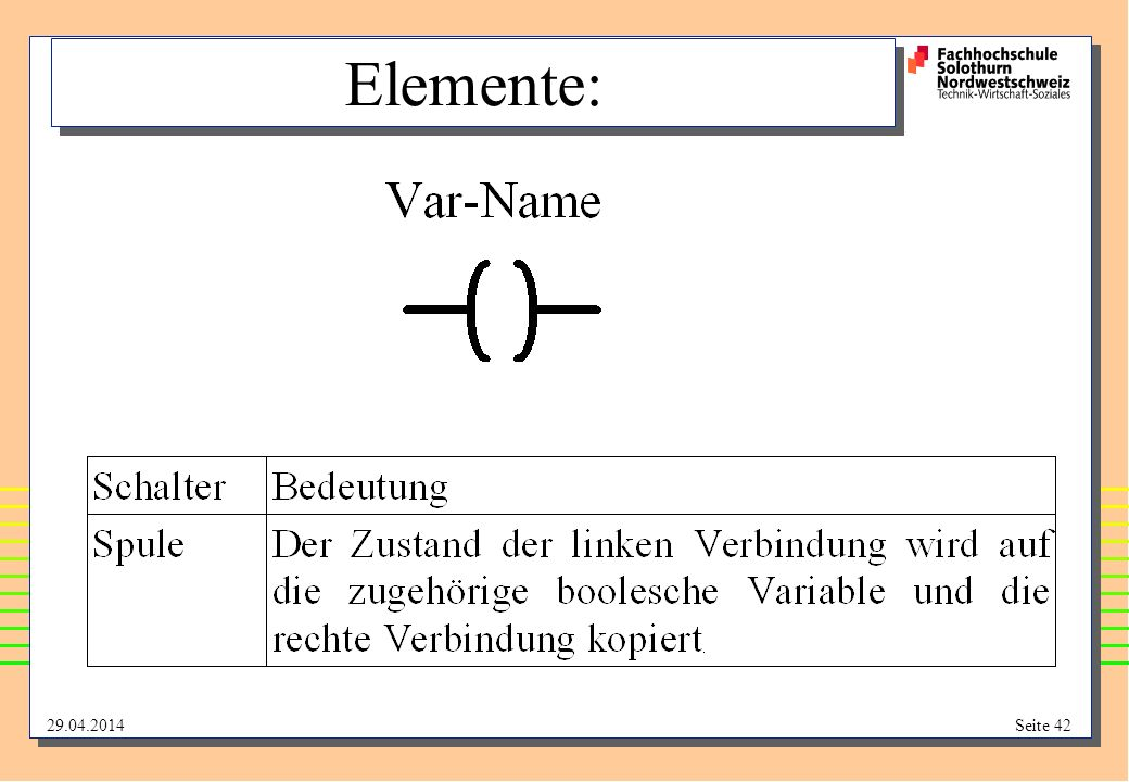 29.04.2014Seite 42 Elemente: