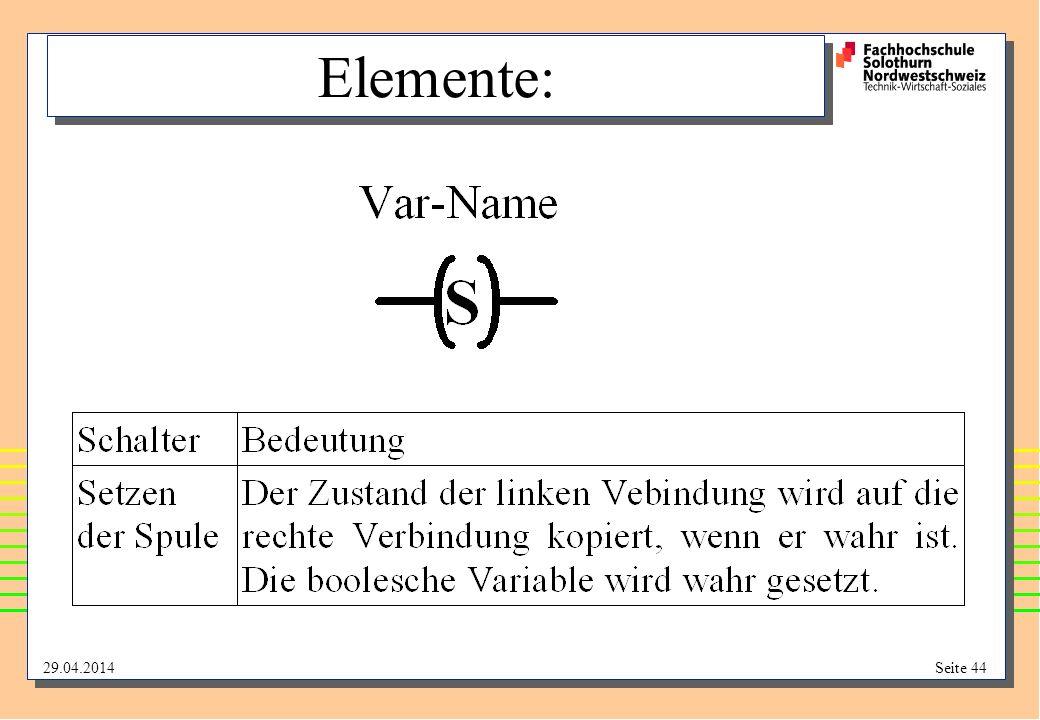 29.04.2014Seite 44 Elemente: