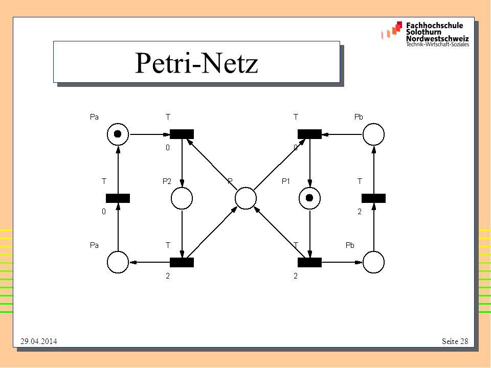 29.04.2014Seite 28 Petri-Netz