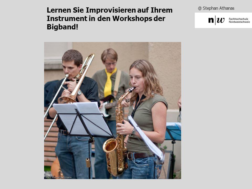 Lernen Sie Improvisieren auf Ihrem Instrument in den Workshops der Bigband!