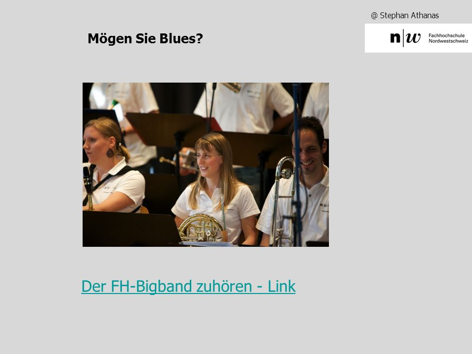 @ Stephan Athanas Mögen Sie Jazz?