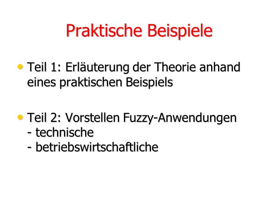 Linguistische Variablen und Terme Numerische Variablen nicht Zahlen Numerische Variablen nicht Zahlen Wörter oder Ausdrücke Wörter oder Ausdrücke z.B.