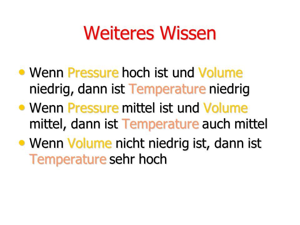 Angaben zur Problemstellung (3) Temperature [Centigrade] befindet sich im Intervall [0 – 70] und wir definieren: niedrig:[0 – 30] mittel:[10 – 50] hoc