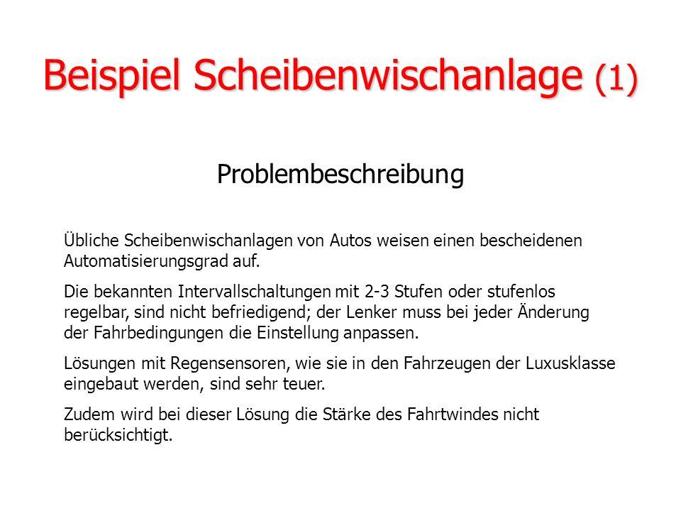 Technische Anwendungen Fahrzeugsteuerungen: z.B. ABS, Scheiben- wischanlage, Geschwindigkeitsbegrenzer Fahrzeugsteuerungen: z.B. ABS, Scheiben- wischa