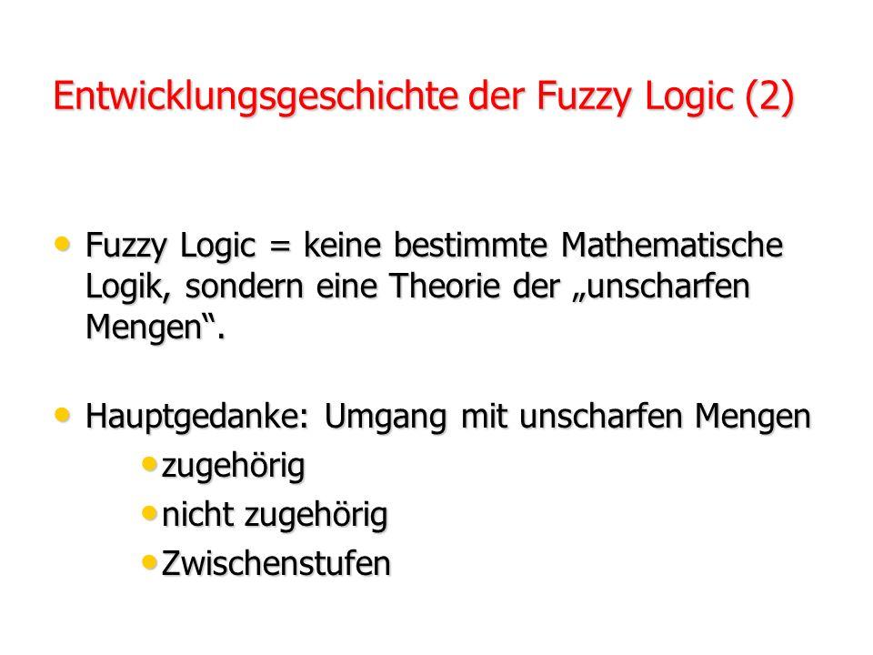 Der Begriff Fuzzy wurde 1965 von Lotfi A. Zadeh geprägt. Der Begriff Fuzzy wurde 1965 von Lotfi A. Zadeh geprägt. Fuzzy Logic galt wissenschaftlich al