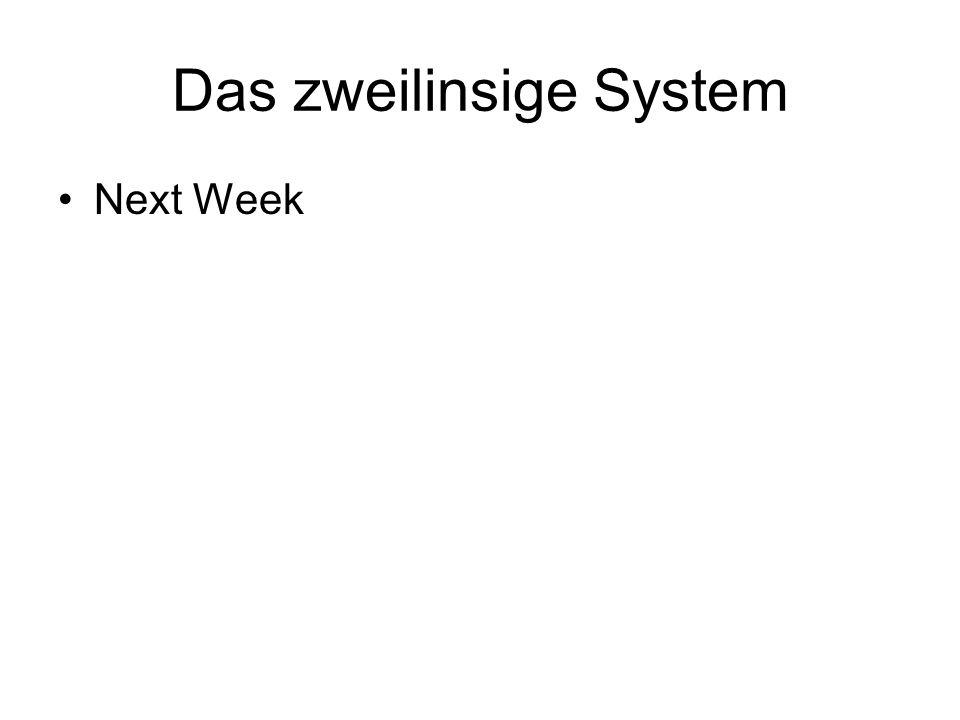 Das zweilinsige System Next Week