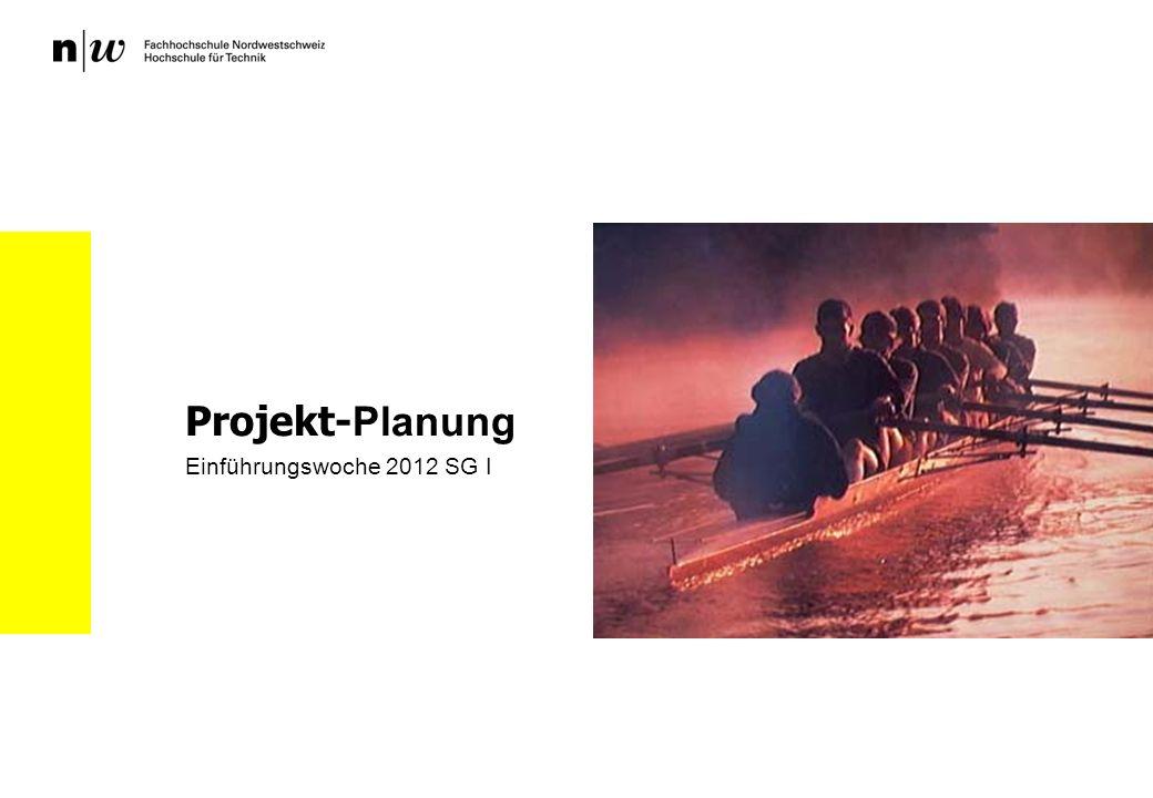 Projekt- Planung Einführungswoche 2012 SG I