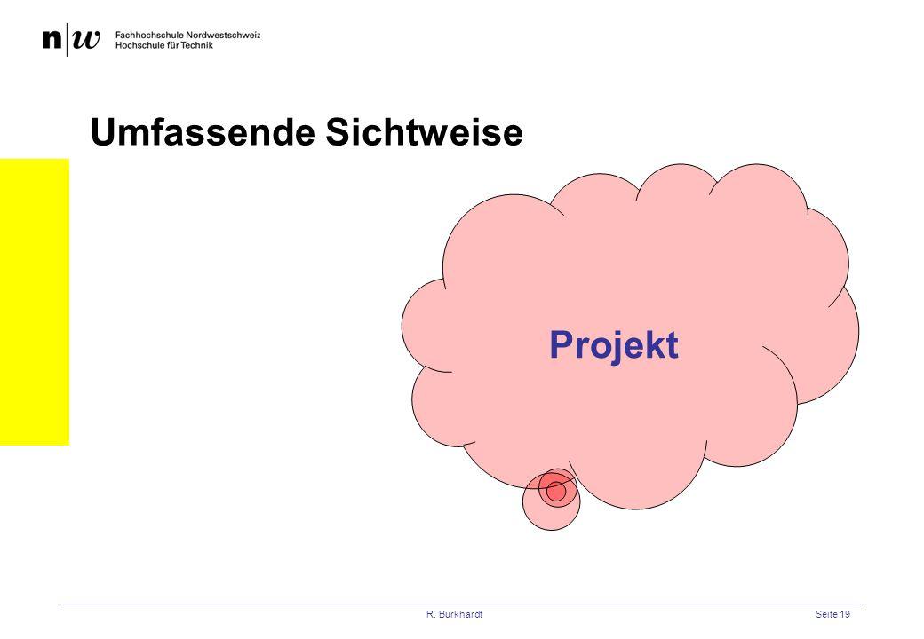R. BurkhardtSeite 19 Projekt Umfassende Sichtweise
