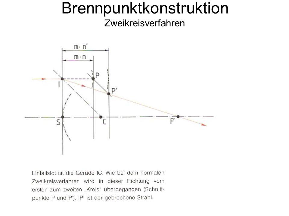 Brennpunktkonstruktion Zweikreisverfahren