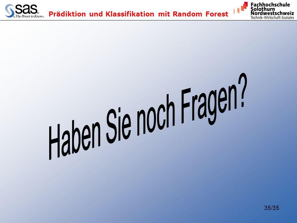 Prädiktion und Klassifikation mit Random Forest 35/35