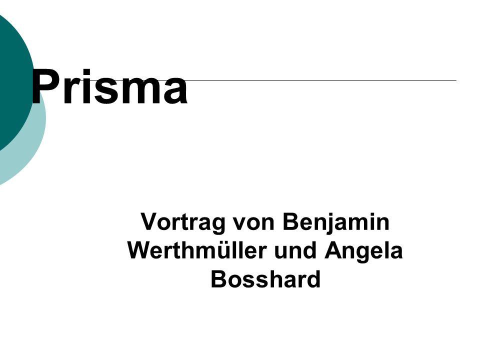 Prisma Vortrag von Benjamin Werthmüller und Angela Bosshard