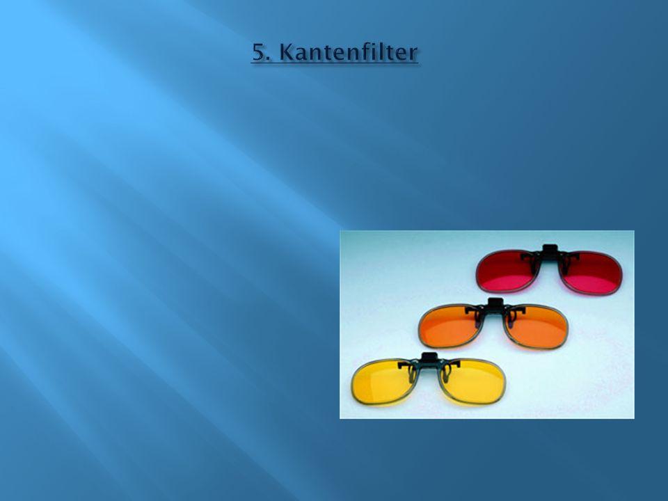 Zwei Eigenschaften: Ausfilterung von sichtbarem Licht Ausfilterung von Infrotlicht (Wärmeschutzfilter)