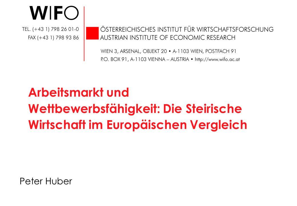 1 K:/f/konj_stm_03_2006.ppt Konjunkturelle Lage Veränderung gegen das Vorjahr in % Q: AMS, HV, Statistik Austria, WIFO-Berechnungen.