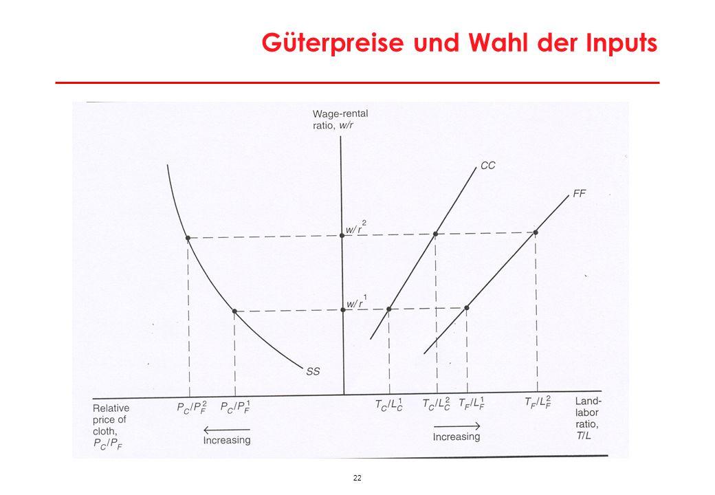 22 Güterpreise und Wahl der Inputs