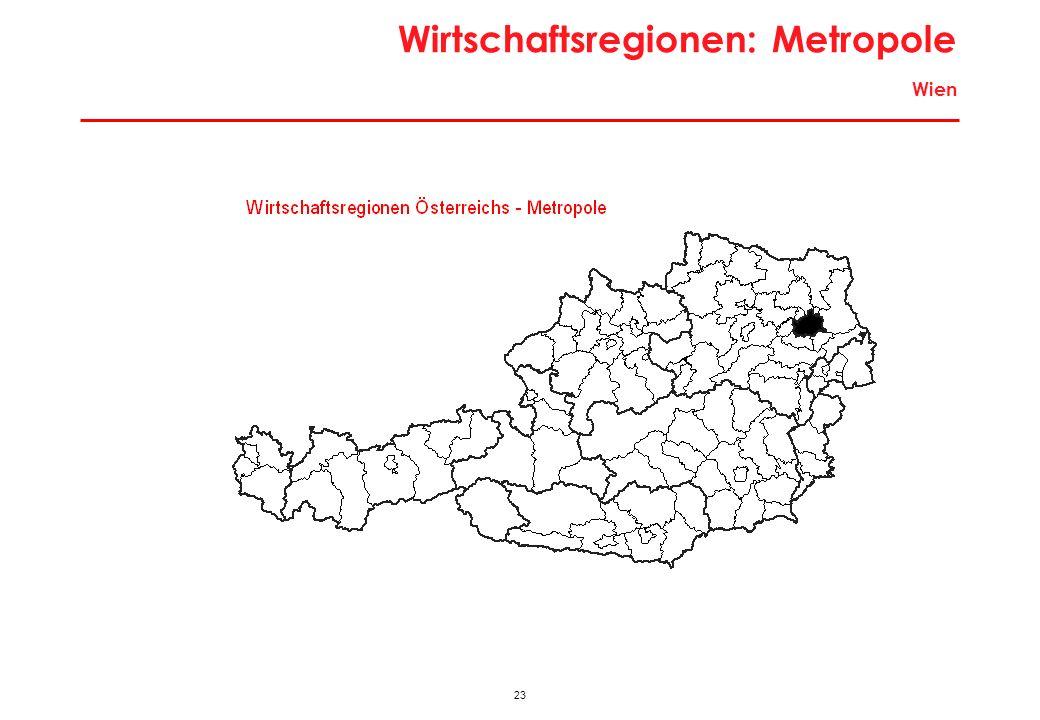 23 Wirtschaftsregionen: Metropole Wien