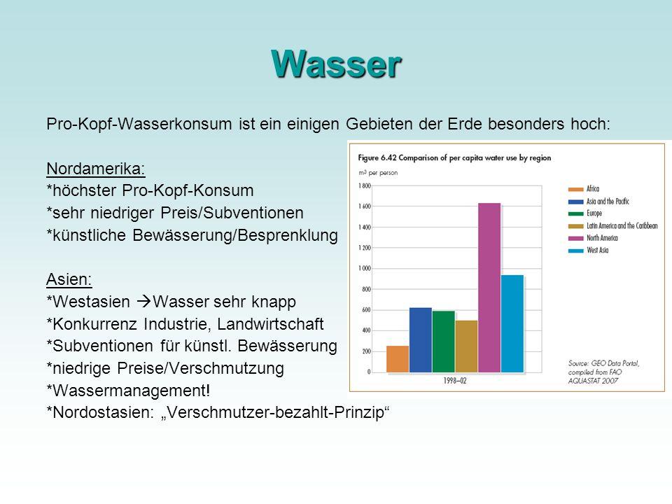 Nahrungsmittel Bevölkerungswachstum erhöhter Wohlstand PROBLEME: Luxus (Champagner-Knappheit) Müllproblematik 11% globaler Landfläche = Landwirtschaft Maximum.