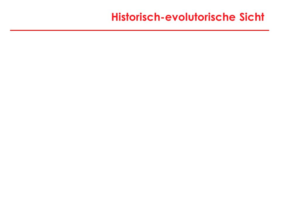 Historisch-evolutorische Sicht