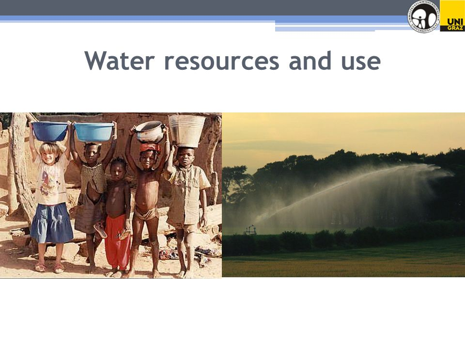 Water resources and use