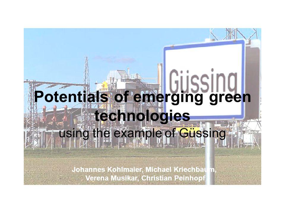 Ziele der Arbeit Modell Güssing Effekte auf die Wirtschaft Umsetzung in Deutschlandsberg Modellcharakter für andere Städte.