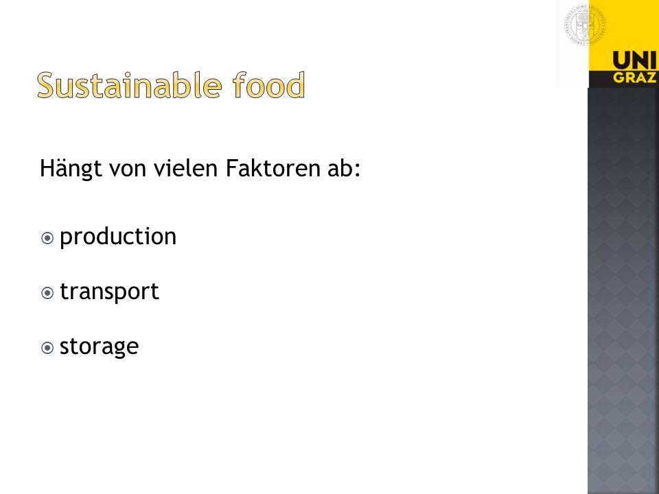 Hängt von vielen Faktoren ab: production transport storage