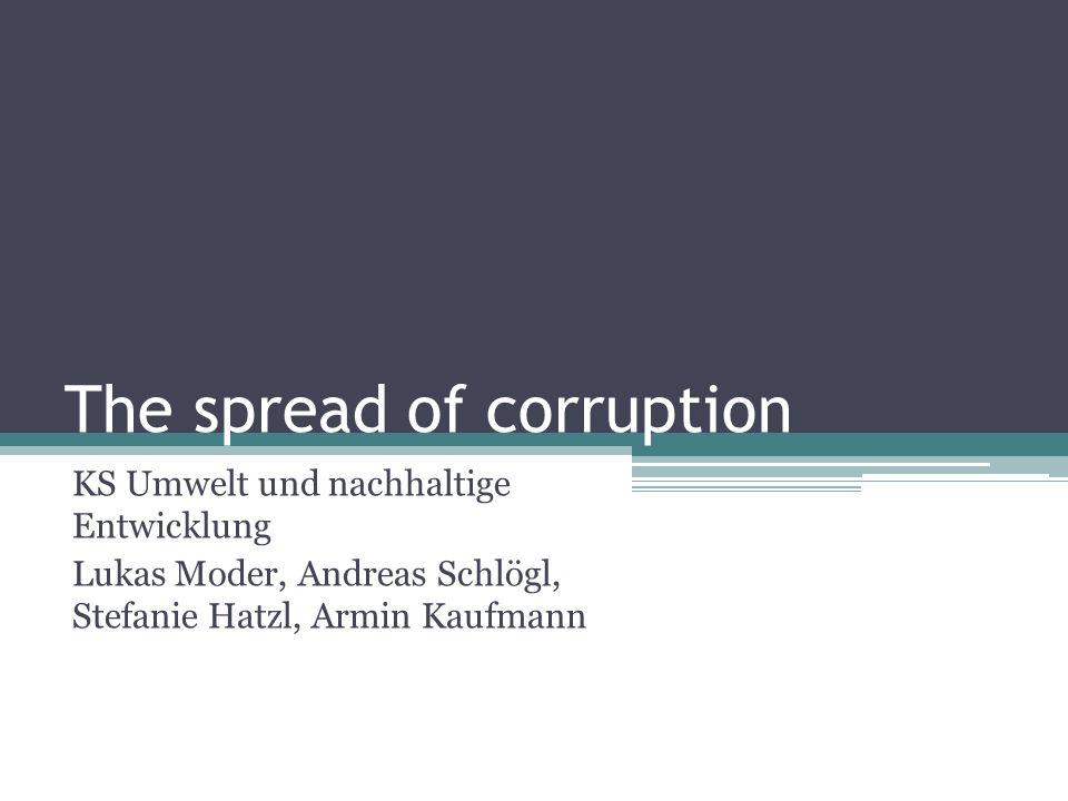 The spread of corruption KS Umwelt und nachhaltige Entwicklung Lukas Moder, Andreas Schlögl, Stefanie Hatzl, Armin Kaufmann