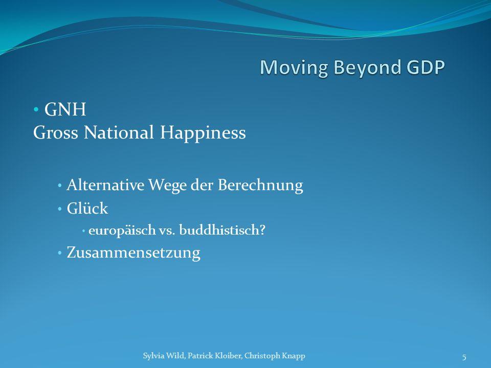GNH Gross National Happiness Alternative Wege der Berechnung Glück europäisch vs.
