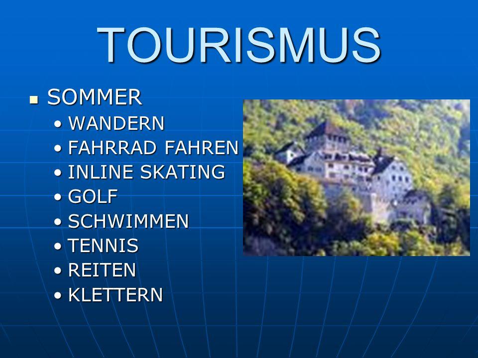 TOURISMUS SOMMER SOMMER WANDERNWANDERN FAHRRAD FAHRENFAHRRAD FAHREN INLINE SKATINGINLINE SKATING GOLFGOLF SCHWIMMENSCHWIMMEN TENNISTENNIS REITENREITEN