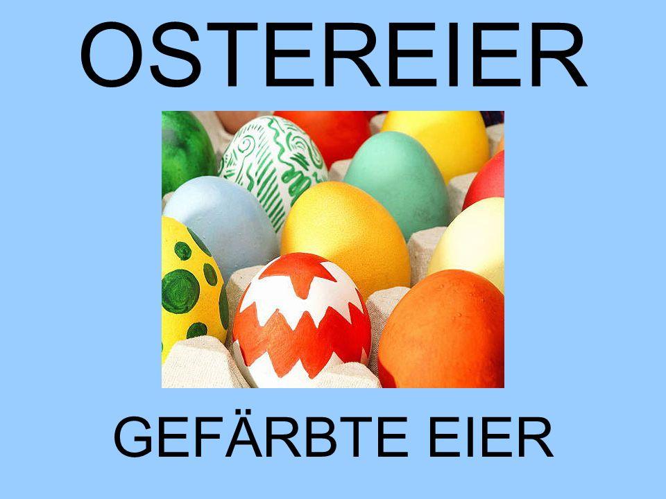 OSTEREIER GEFÄRBTE EIER