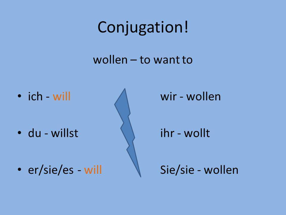 Conjugation.