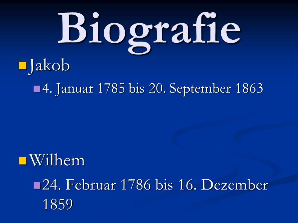 Biografie Jakob Jakob 4.Januar 1785 bis 20. September 1863 4.