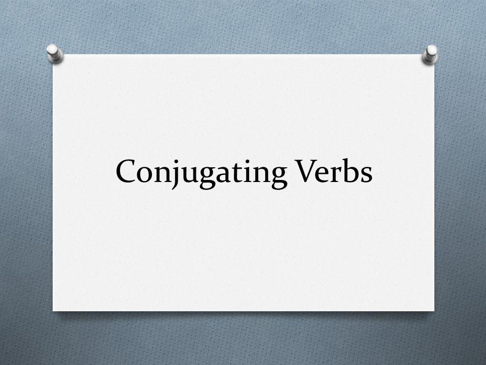 Conjugating Verbs