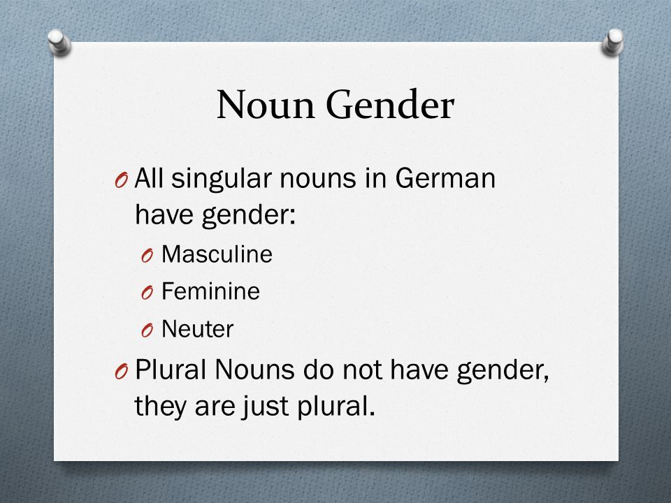Nominative Case O Dictionary Form for all nouns O Used to indicate the subject O Das Auto fährt schnell.