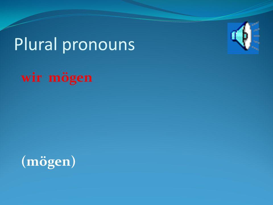 Plural pronouns