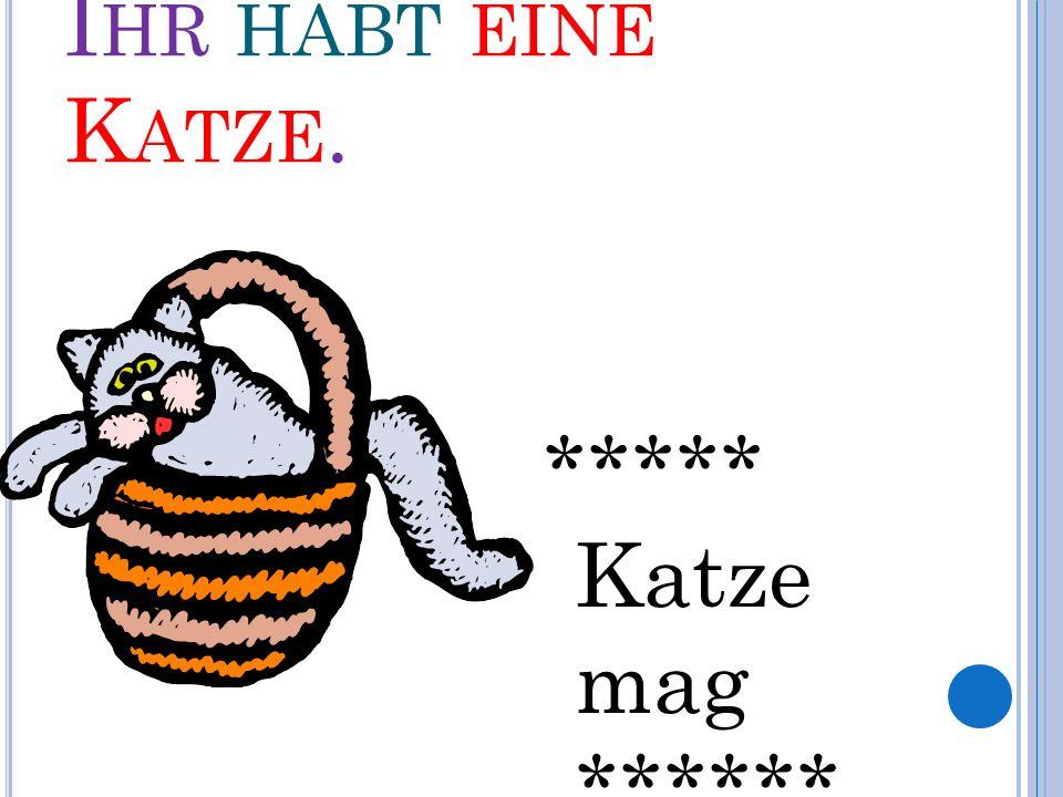 I HR HABT EINE K ATZE. ***** Katze mag ******